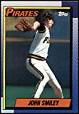 1990 Topps Baseball #568 John Smiley Pittsburgh Pirates Official MLB Trading Card (stock photos used) Near Mint or better condition