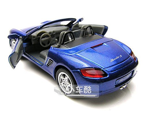 1:34 Blue mini PORSCHE Boxster convertible sports car alloy Diecast model car