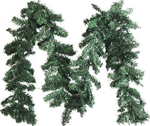 Artfen Artificial Christmas Garland Artificial Pine Garland Christmas Decorations 8.9 FT Long