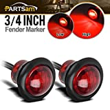 Partsam-Pair-34-Mini-Marker-Clearance-Light-Tail-Brake-Light-1-Diode-Red-Light3-Wires