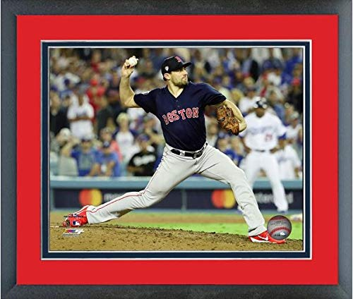 "Nathan Eovaldi Boston Red Sox 2018 World Series Action Photo (Size: 12.5"" x 15.5"") Framed"