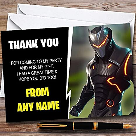 Fortnite Omega Tarjetas De Agradecimiento Personalizadas