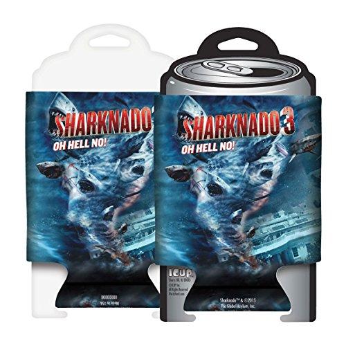 ICUP Sharknado 3 Blue Movie Poster Huggie/Koozie, Clear -