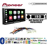 Volunteer Audio Pioneer AVH-W4400NEX Double Din Radio Install Kit with Wireless Apple CarPlay, Android Auto, Bluetooth Fits Non Amplified 1987-2009 Toyota 4Runner, 1987-2015 Camry, 1995-2015 Tacoma