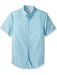 Men's Short Sleeve Flamingo Printed Shirt
