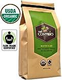 USDA Organic Coffee Beans Non-GMO & Fair Trade - 2lb - Cafe Contibio - 100% Arabica Specialty Gourmet Grade - Delicious Light Medium Roast (32 OZ)
