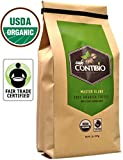 USDA Organic Coffee Beans NonGMO & Fair Trade, 2lb, Cafe Contibio, 100% Arabica Specialty Gourmet Grade, Delicious Light Medium Roast Coffee Beans, 32 OZ