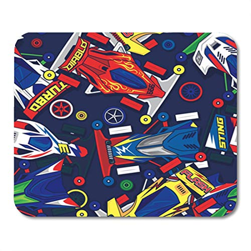 Semtomn Gaming Mouse Pad Race Pop and Colorful Classic Mini 4Wd Toys Car Auto 9.5