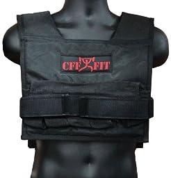 CFF Adjustable Weighted Short Vest 22 Lbs (10 kg) - Great for Cross Training, Running & Fireman Training