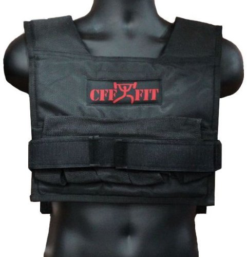 CFF Adjustable Weighted Short Vest 22 Lbs (10 kg) - Great for Cross Training, Running & Fireman Training by CFF