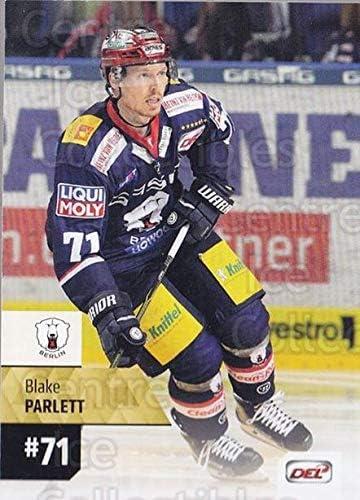Blake Parlett Hockey Card 2017-18 German DEL #320 Blake Parlett