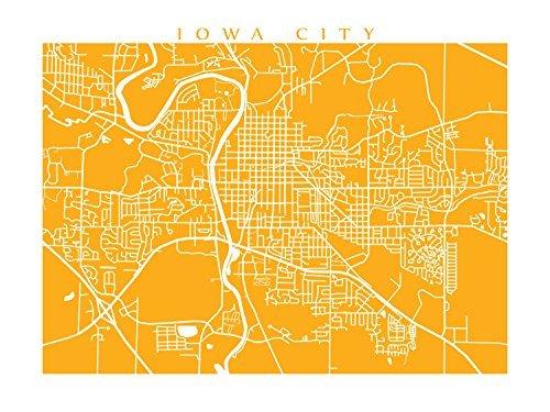 Amazon com: Iowa City Map Print: Handmade