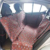 Sunshines Pet Dog Protect Car Back Seat Cover Hammock Bed Mat Waterproof Washable Adjustable Dog Cat Safety Travel Blanket Mat Cover for Backseat (coffee)