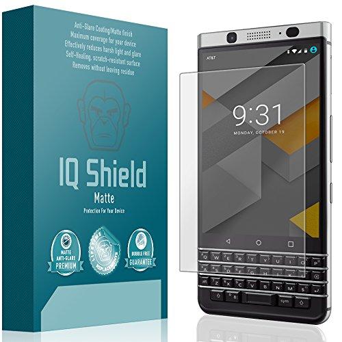 - IQ Shield Matte Full Coverage Anti-Glare Screen Protector for BlackBerry KEYone Anti-Bubble Film