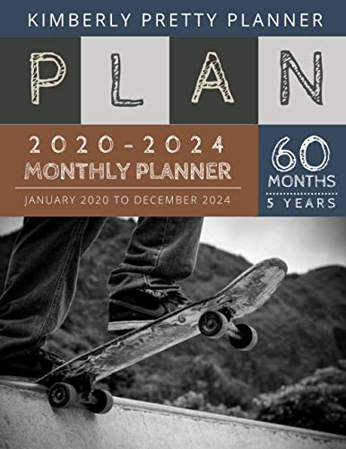Promotion only $8.99 => $7.995 year monthly planner 2020-2024 : five year monthly planner | 60 Months Calendar, 5 Year Appointment Calendar, Business Planners, Agenda Schedule Organizer Logbook and Journal | Sketchboard DesignThis five year monthl...