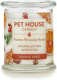 One Fur All 100% Natural Soy Wax Candle, 20 Fragrances - Pet Odor Eliminator, Up to 60 Hours Burn Time, Non-To