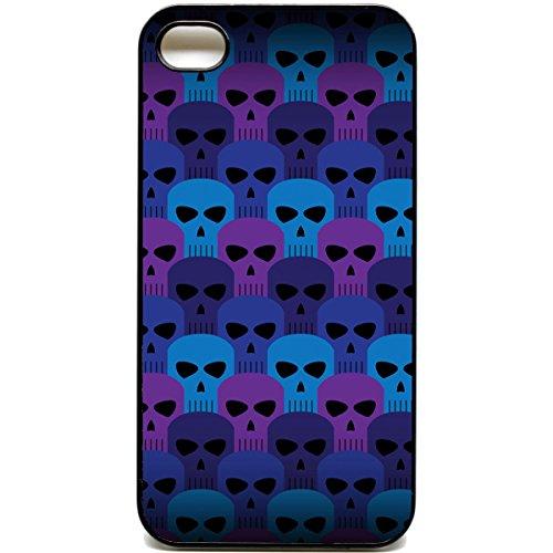 iPhone 4/4S Handy Schutzhülle Totenkopf Muster Emo Punk Ska Tatoo Art