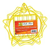 Belle Fleur Sun & Star Suet Bird Feeder, Yellow, One Suet Cake Capacity Review