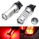 iJDMTOY (2) 360° Brilliant Red 42-SMD-2835 7443 7444 T20 LED Replacement Bulbs For Car Brake/Tail Lights