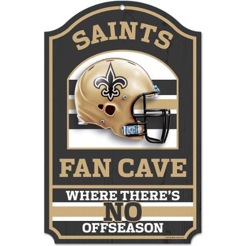 NFL New Orleans Saints Fan Cave Wood Sign, 11