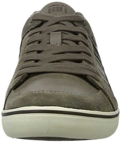 Top Geox D Brown Taupe Sneakers Low Box U Men Grey Anthracite qXrxwtpXf
