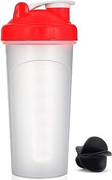 Hoople Mix Mezcla de látigo & Shake Claro Classic Colored Tornillo Superior Shaker Mezclador de Botella de Deporte Smoothie pérdida de Peso de ...