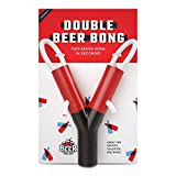 Double Beer Bong - Portable Beer Funnel Double Header for Chugging at College Parties - Drinking Party Game - by Beer Nation