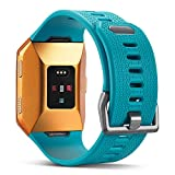 For Fitbit Ionic Bands, Marval Power Soft TPU Replacement Fitness Accessory Sport Straps Wristband for Fitbit Ionic Smartwatch Men Women, Large Small(Teal,Small)