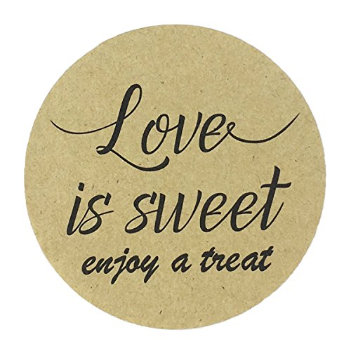80 - 2'' kraft love is sweet stickers, wedding favor labels, have a treat sticker by MAGJUCHE