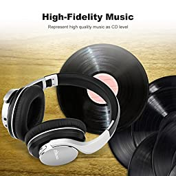 Zinsoko Bluetooth Headphone,ShareMe Over Ear Adjustable Headphones with Microphone, Wireless and 3.5mm Wired Dual Mode for Travel,Work,Sport Foldable Lightweight Headset,B021-Silver