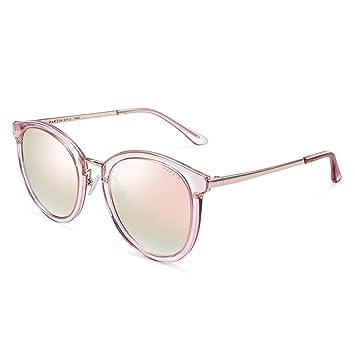 Ppy778 Gafas de Sol polarizadas Unisex Classic Round Metal ...