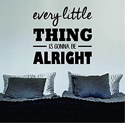 Every Little Thing Version 3 Bob Marley Quote Decal Sticker Vinyl Art Wall Nice Beautiful Words Jamaica Reggae One Love