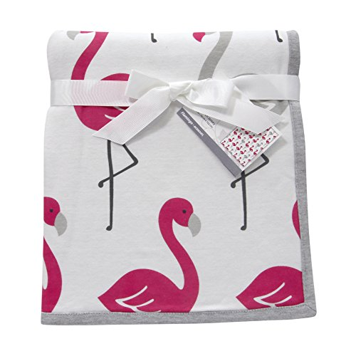 Lambs Ivy Flamingo Jersey Blanket product image