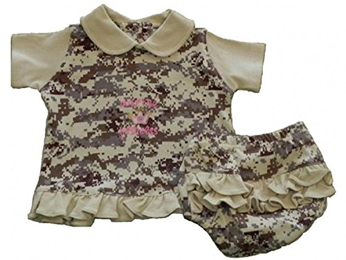 "US Marine ""Marine Princess"" 2pc Embroidered Baby Dress Wo..."