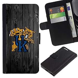 UNIQCASE - Apple Iphone 6 PLUS 5.5 - Kentucky Wildcat Basketball - Cuero PU Delgado caso cubierta Shell Armor Funda Case Cover