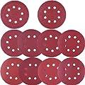 AUSTOR 100 Pieces Sanding Discs 5 Inch 8 Holes Hook and Loop 80/180/ 240/320/ 400/800/ 1000/1500/ 2000/3000 Grit Sandpaper Assortment for Random Orbital Sander