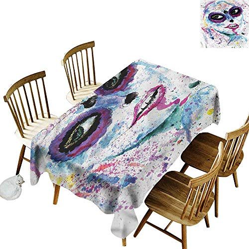 one1love Resistant Table Cover Girls Halloween Lady Make Up Table Cover for Kitchen Dinning Tabletop Decoratio 54