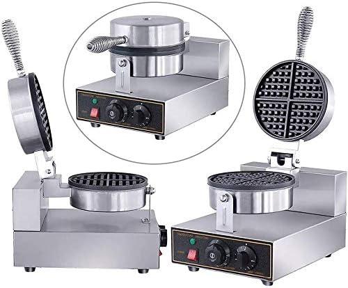 Gaufrier Steel Nonstick gaufrier Machine avec Time inoxydable et contrôle de la température Convient for Family Restaurant Boulangeries snack-bar gaufrier professionnel