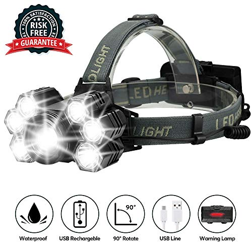 Rechargeable Headlights Brightest Waterproof Flashlight product image