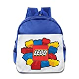 Fennessy Custom Personalized Lego Teenager School Bagpack For 1-6 Years Old RoyalBlue