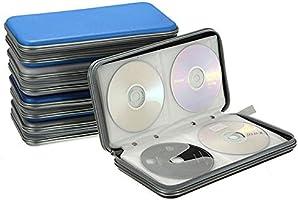 Estuche Rígido para Almacenamiento de CD en DVD para 80 Discos. Durable Organizador de Viajes. (Rojo): Amazon.es: Electrónica