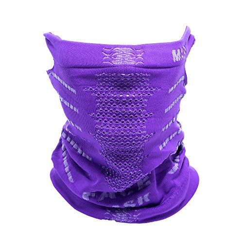Multifunctional Sport Headwear Bicycle Face Mask Anti Fog And Anti Dust Mask (Purple)