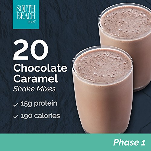 South Beach Diet Chocolate Caramel Shakes, 1.4 Oz packet, 20 Count LIMITED TIME DISCOUNT - South Beach Diet Peanut Butter