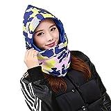 SZIVYSHI Balaclava Hooded Face Mask Neck Warmer Ski Hood Snowboard Mask Wind Protector