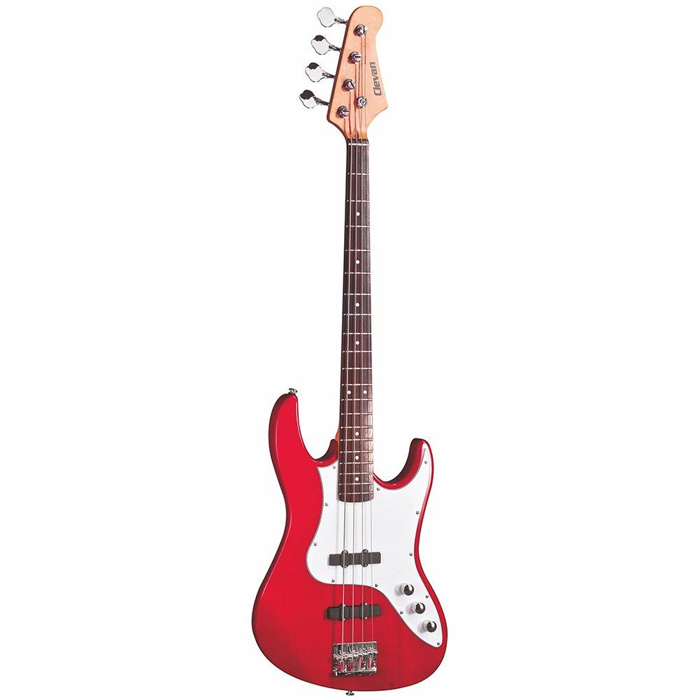 Clevan CJB-20 MRD Agathis 4-String Electric Bass Guitar, Metallic Red LTD.
