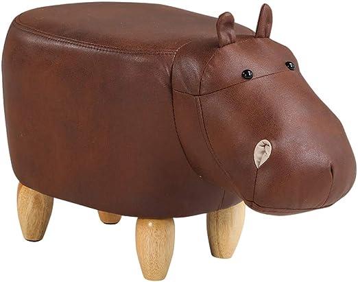 Animal Shape Footstools Ottomans Padded Cushion Footstool Stool Rest Seat Sofa Chair ,C Dark Brown Bull