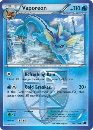 - Pokemon - Vaporeon (20/116) - Plasma Freeze
