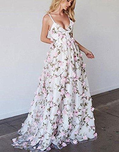 Robes De Bal V Cou Des Femmes Dressesonline Longue Image Robe De Soirée Formelle Broderie Florale B