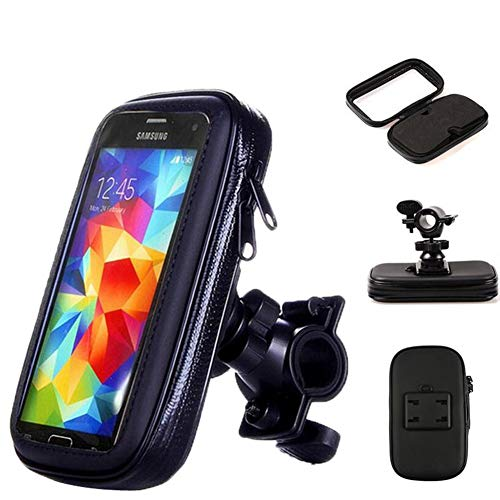 I9100 Cell Phone (GFEI Motorcycle Bicycle Mobile Phone Holder, GPS Bracket Waterproof Cover, for iPhone X 8 Plus Se S9,XL)