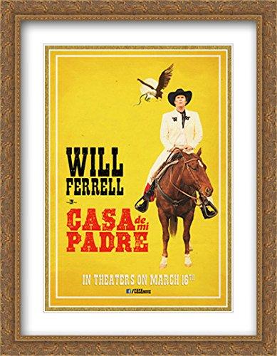 Casa de mi Padre 28x36 Double Matted Large Large Gold Ornate Framed Movie Poster Art - De Padre Poster Casa Mi